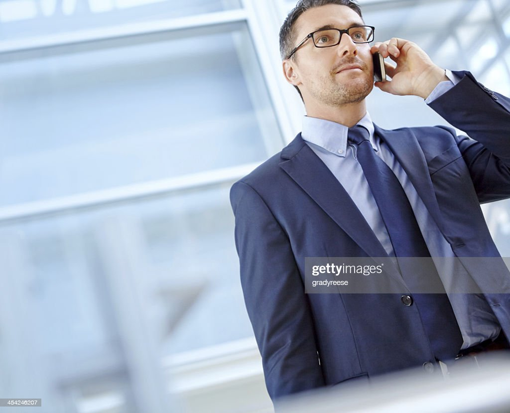 Catching up with a client : Stock Photo