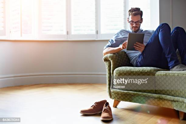 Catching up with his online reading