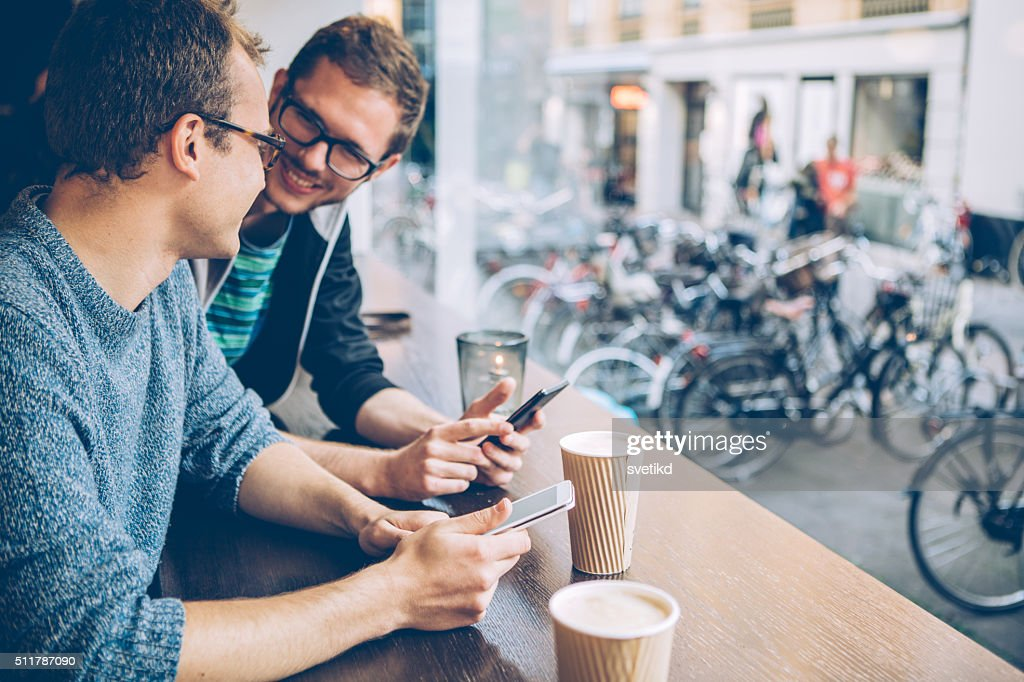 Catching up with some friends : Stock Photo
