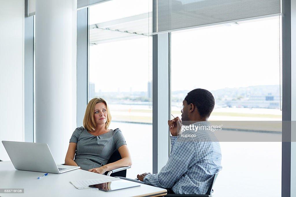 Conoscendo con un collega : Foto stock