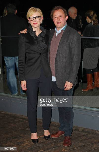 Cate Blanchett and Andrew Upton arrive at opening night of The Histrionic at the Sydney Theatre Company June 20 2012 in Sydney Australia