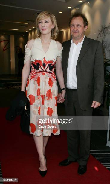 Cate Blanchett and Andrew Upton arrive at the 2009 Sydney Theatre Awards rewarding work from the 2009 calendar at Club Swans on January 18 2010 in...