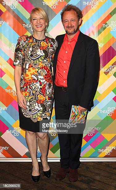 Cate Blanchett and Andrew Upton at the Sydney Theatre Company 2014 Season Launch at the Sydney Theatre Company on September 12 2013 in Sydney...