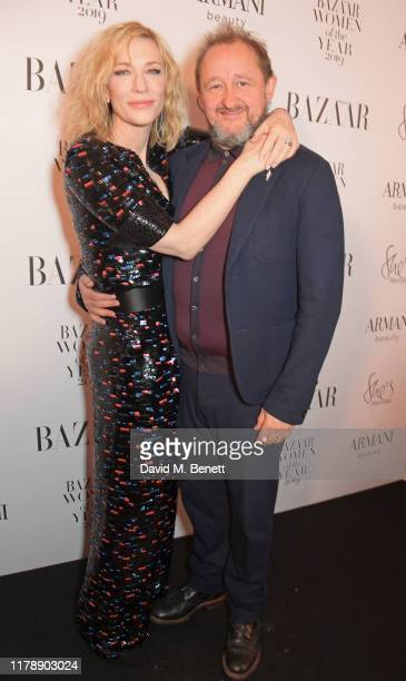 Cate Blanchett and Andrew Upton attend the Harper's Bazaar Women of the Year Awards 2019 in partnership with Armani Beauty at Claridge's Hotel on...
