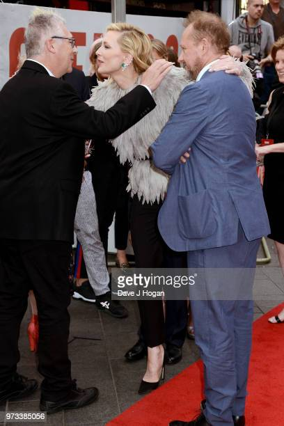 Cate Blanchett and Andrew Upton attend the 'Ocean's 8' UK Premiere held at Cineworld Leicester Square on June 13 2018 in London England