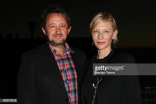 Cate Blanchett and Andrew Upton attend the opening night of Mrs Warren's Profession at Sydney Theatre Company on February 19 2013 in Sydney Australia