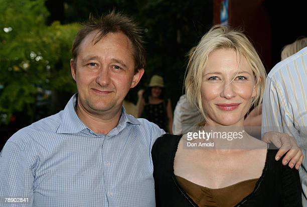 Cate Blanchett and Andrew Upton attend the opening night of Ngapartji Ngapartji at the Belvoir St Theatre during the 2008 Sydney Festival on January...
