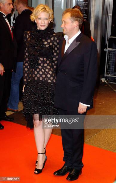 Cate Blanchett and Andrew Upton during The Aviator London Film Premiere Arrivals at Odeon West End Leicester Square in London Great Britain