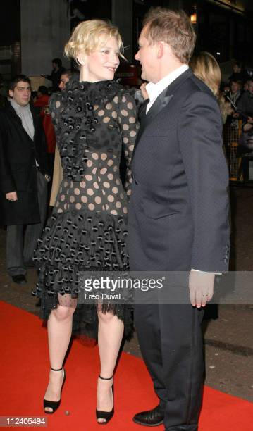 Cate Blanchett and Andrew Upton during The Aviator London Premiere Arrivals at Odeon West End Leicester Square in London Great Britain