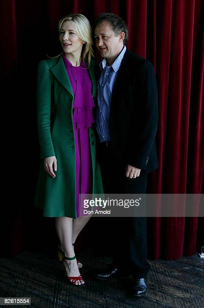 Cate Blanchett and Andrew Upton pose during the official launch of the Sydney Theatre Company's 2009 Main Stage Season at the Wharf Restaurant on...