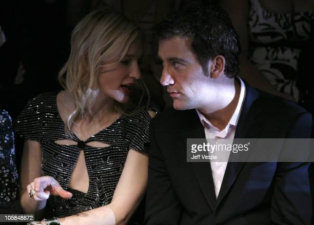 Cate Blanchett and Clive Owen during Giorgio Armani Prive in LA Front Row at Green Acres in Los Angeles California United States