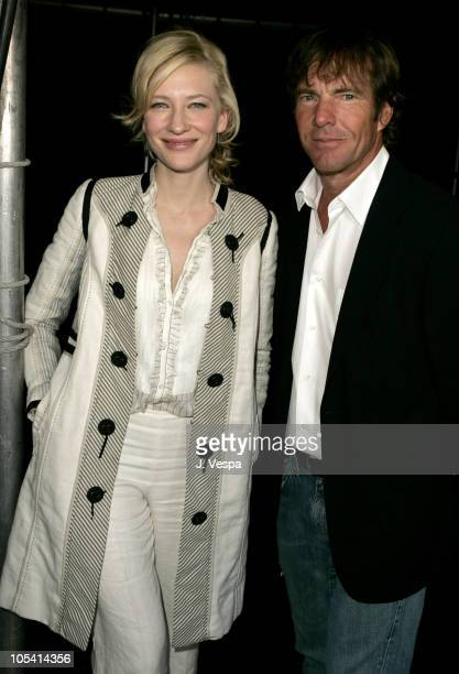 Cate Blanchett and Dennis Quaid during The 20th Annual IFP Independent Spirit Awards - Green Room in Santa Monica, California, United States.