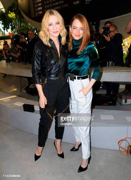 Cate Blanchett and Emma Stone at Louis Vuitton Cruise 2020 Fashion Show on May 8, 2019 in New York City.