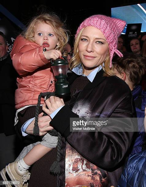 Cate Blanchett and family attend The Ghostlight Project to light a light and make a pledge to stand for and protect the values of inclusion...