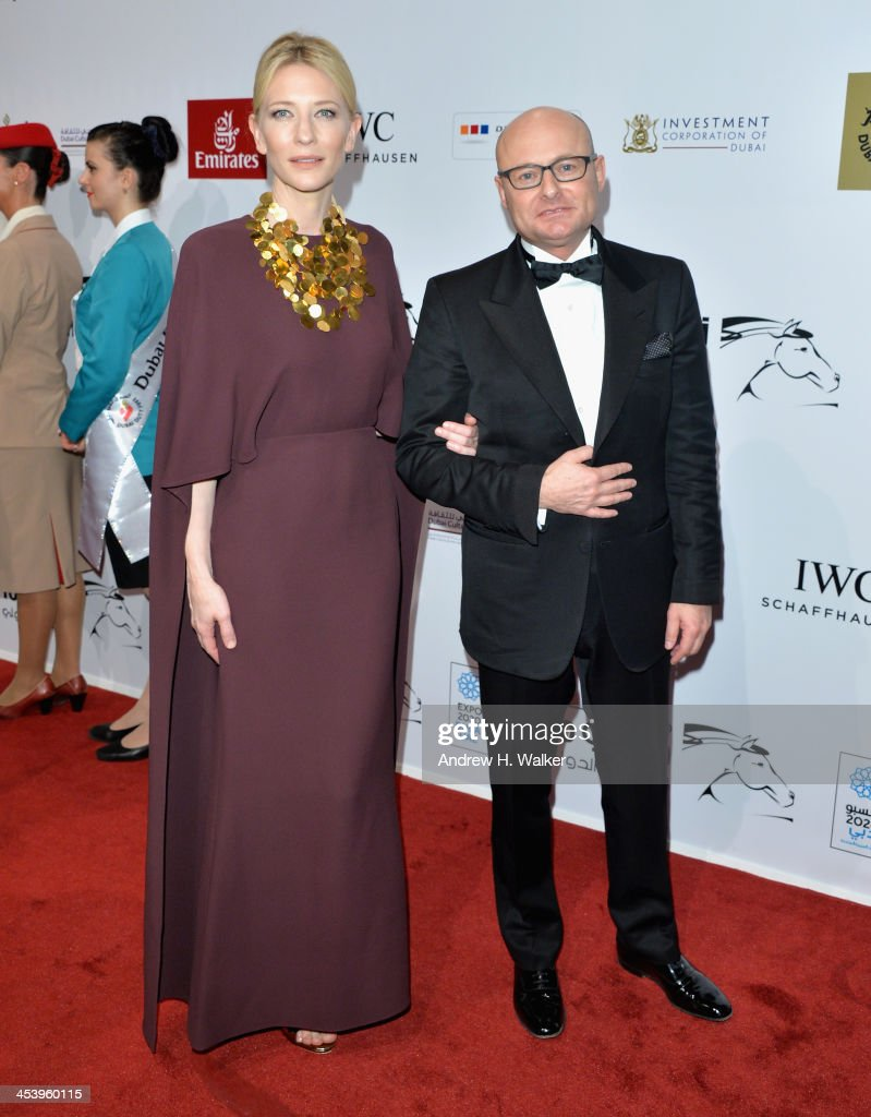 Cate Blanchett and Georges Kern attend the Opening Night Gala of the 10th Annual Dubai International Film Festival held at the Madinat Jumeriah Complex on December 6, 2013 in Dubai, United Arab Emirates.