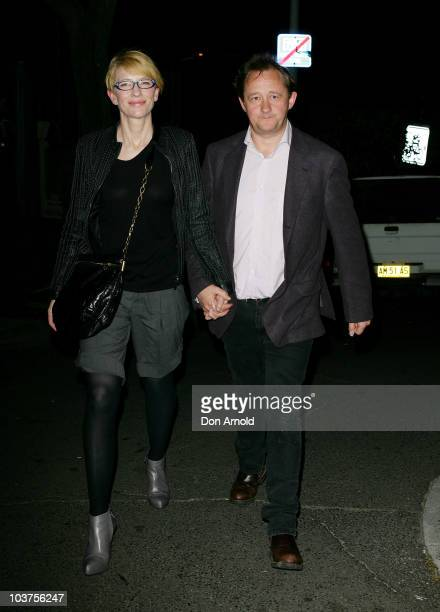 Cate Blanchett and husband Andrew Upton arrive at the opening night of Quack at the Stables Theatre on September 1 2010 in Sydney Australia