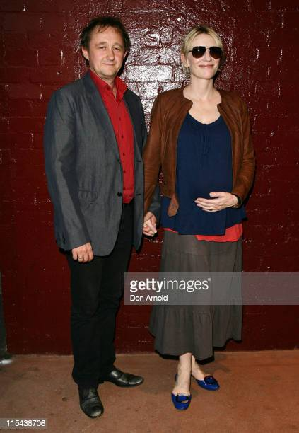 "Cate Blanchett and husband Andrew Upton arrive for the opening night of Kate Mulvany's ""The Seed"" at the Belvoir Street Theatre on February 20, 2008..."