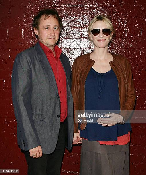 Cate Blanchett and husband Andrew Upton arrive for the opening night of Kate Mulvany's 'The Seed' at the Belvoir Street Theatre on February 20 2008...