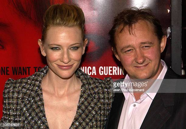 Cate Blanchett and husband Andrew Upton during Los Angeles Premiere of 'Veronica Guerin' at The Bruin Theatre in Westwood California United States