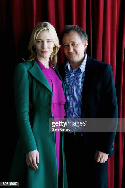 Cate Blanchett and husband Andrew Upton pose at the official launch of the Sydney Theatre Company's 2009 Main Stage Season at the Wharf Restaurant on...