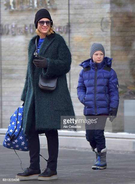 Cate Blanchett and Ignatius Martin Upton are seen in Tribeca on January 9, 2017 in New York City.
