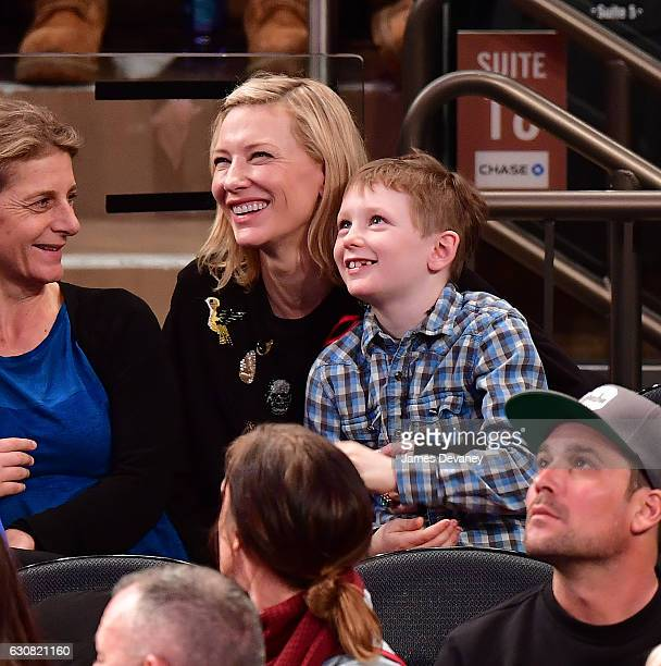 Cate Blanchett and Ignatius Upton attend Orlando Magic vs New York Knicks game at Madison Square Garden on January 2 2017 in New York City