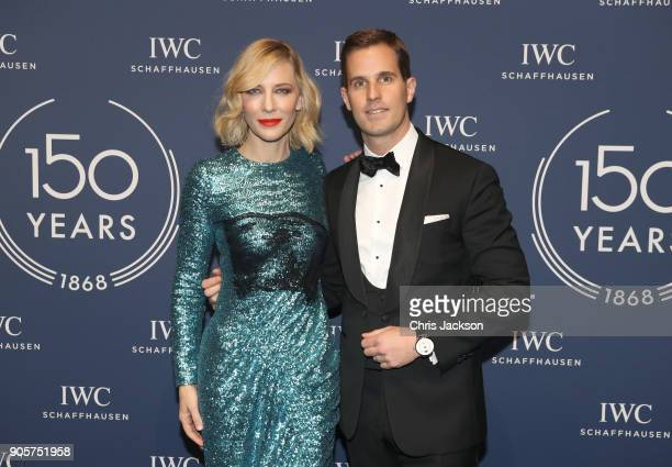 Cate Blanchett and IWC Schaffhausen CEO Christoph Grainger Herr attend the IWC Schaffhausen Gala celebrating the Maison's 150th anniversary and the...
