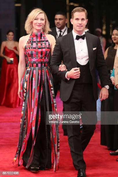 Cate Blanchett and IWC Schaffhausen CEO Christoph GraingerHerr attend the Opening Night Gala of the 14th annual Dubai International Film Festival...
