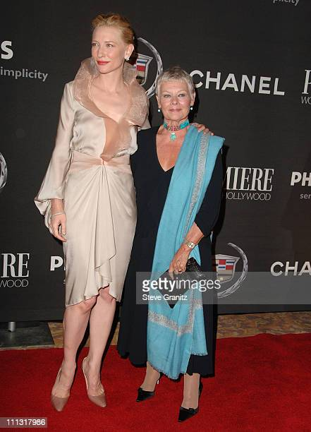 Cate Blanchett and Judi Dench during 13th Annual Premiere Women in Hollywood - Arrivals at Beverly Hills Hotel in Beverly Hills, California, United...