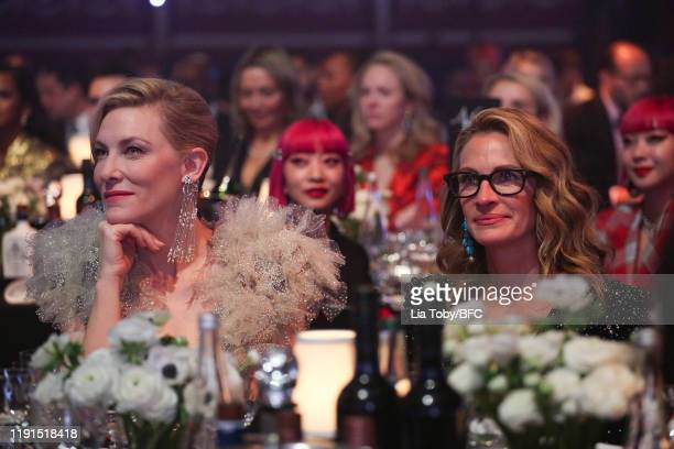 Cate Blanchett and Julia Roberts during The Fashion Awards 2019 held at Royal Albert Hall on December 02 2019 in London England