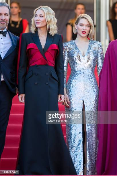 Cate Blanchett and Lea Seydoux attend the Closing Ceremony screening of 'The Man Who Killed Don Quixote' during the 71st annual Cannes Film Festival...