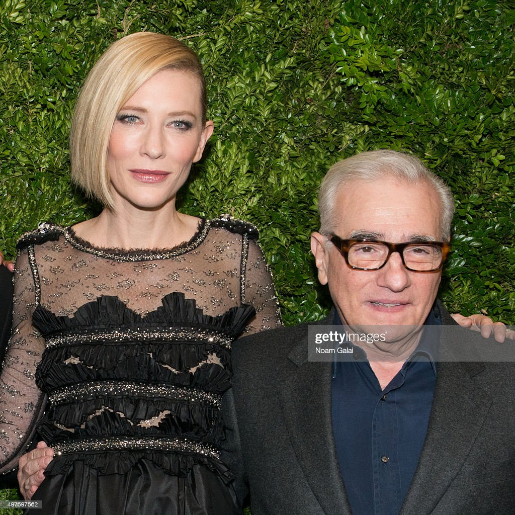 Cate Blanchett and Martin Scorsese attend the 8th Annual Museum Of Modern Art Film Benefit honoring Cate Blanchett at Museum of Modern Art on November 17, 2015 in New York City.