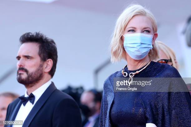 """Cate Blanchett and Matt Dillon walk the red carpet ahead of the Opening Ceremony and the """"Lacci"""" red carpet during the 77th Venice Film Festival at..."""