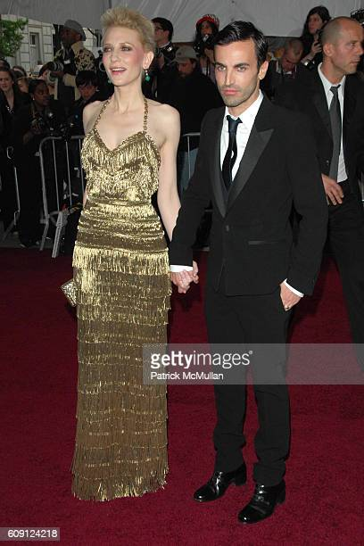 Cate Blanchett and Nicolas Ghesquiere attend The COSTUME INSTITUTE Gala in honor of POIRET KING OF FASHION at The Metropolitan Museum of Art on May 7...