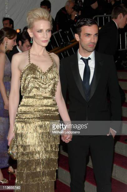 Cate Blanchett and Nicolas Ghesquiere during Poiret King of Fashion Costume Institute Gala at The Metropolitan Museum of Art Arrivals at Metropolitan...
