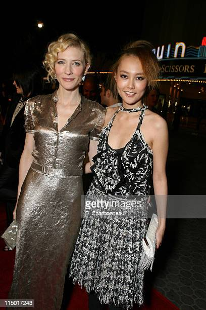 "Cate Blanchett and Rinko Kikuchi during Special Presentation of Paramount Vantage's ""Babel"" at Mann Village Theatre in Westwood, CA, United States."