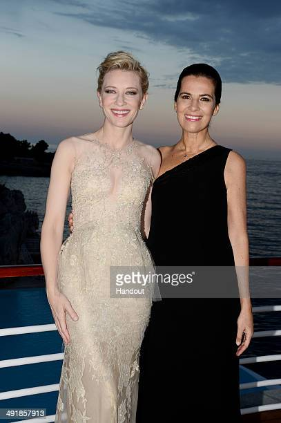 Cate Blanchett and Roberta Armani attend the Vanity Fair And Armani Party at the 67th Annual Cannes Film Festival on May 17 2014 in Cap d'Antibes...