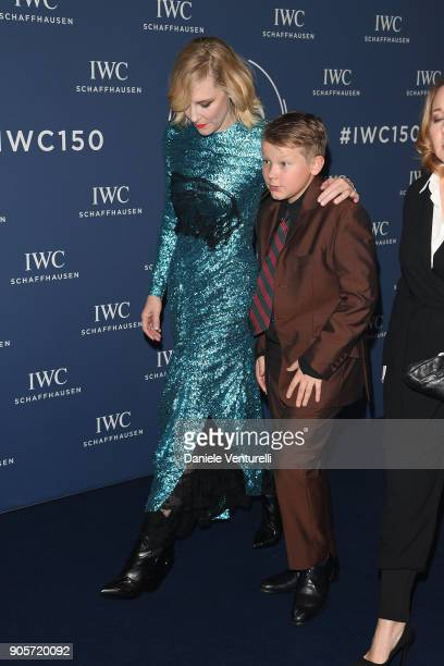 Cate Blanchett and Roman Upton walks the red carpet for IWC Schaffhausen at SIHH 2018 on January 16 2018 in Geneva Switzerland
