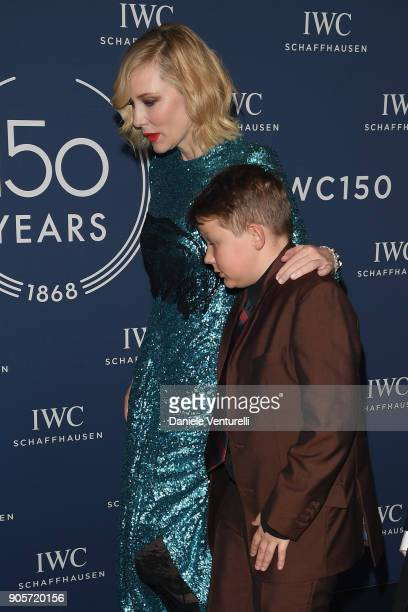 Cate Blanchett and Roman Upton walks the red carpet for IWC Schaffhausen at SIHH 2018 on January 16, 2018 in Geneva, Switzerland.