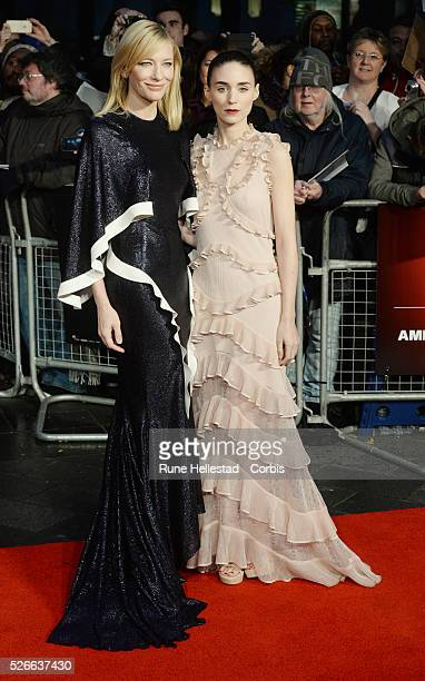 Cate Blanchett and Rooney Mara attend the premiere of Carol at London Film Festival at Odeon, Leicester Square.