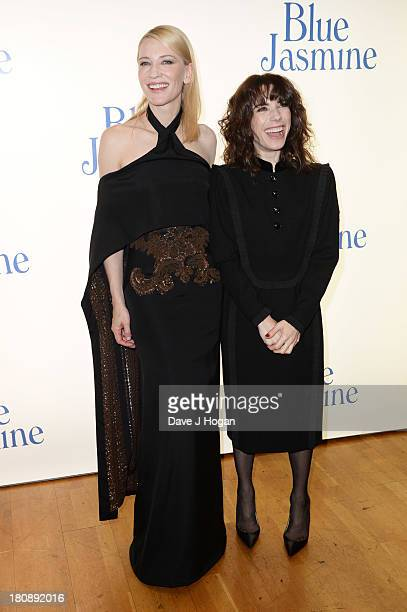 Cate Blanchett and Sally Hawkins attend the UK premiere of 'Blue Jasmine' at The Odeon West End on September 17 2013 in London England