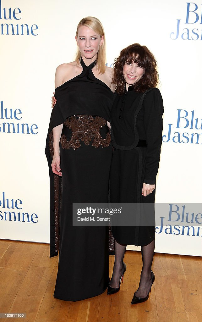 Cate Blanchett and Sally Hawkins attend the UK premiere of 'Blue Jasmine' at Odeon West End on September 17, 2013 in London, England.