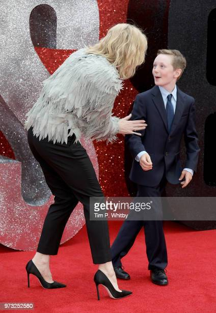 Cate Blanchett and son attend the 'Ocean's 8' UK Premiere held at Cineworld Leicester Square on June 13 2018 in London England