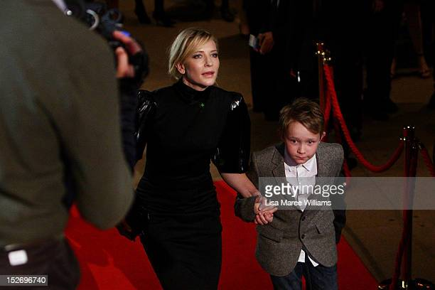 Cate Blanchett and son Roman arrive at the 2012 Helpmann Awards at the Sydney Opera House on September 24 2012 in Sydney Australia