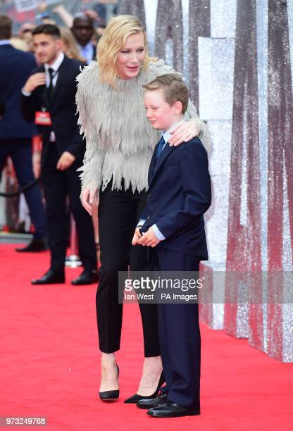 Cate Blanchett and son Roman attending the European premiere of Oceans 8 held at the Cineworld in Leicester Square London Picture date Wednesday 13th...