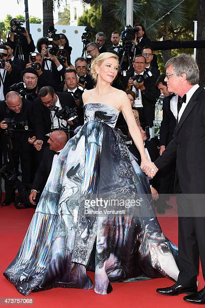 Cate Blanchett and Todd Haynes attend the 'Carol' Premiere during the 68th annual Cannes Film Festival on May 17 2015 in Cannes France