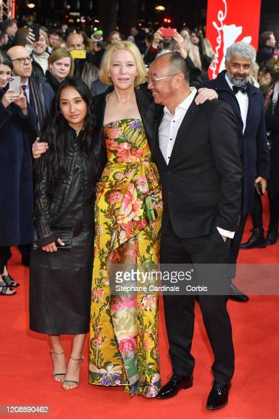 Cate Blanchett and Tony Ayres pose at the Stateless premiere during the 70th Berlinale International Film Festival Berlin at Zoo Palast on February...
