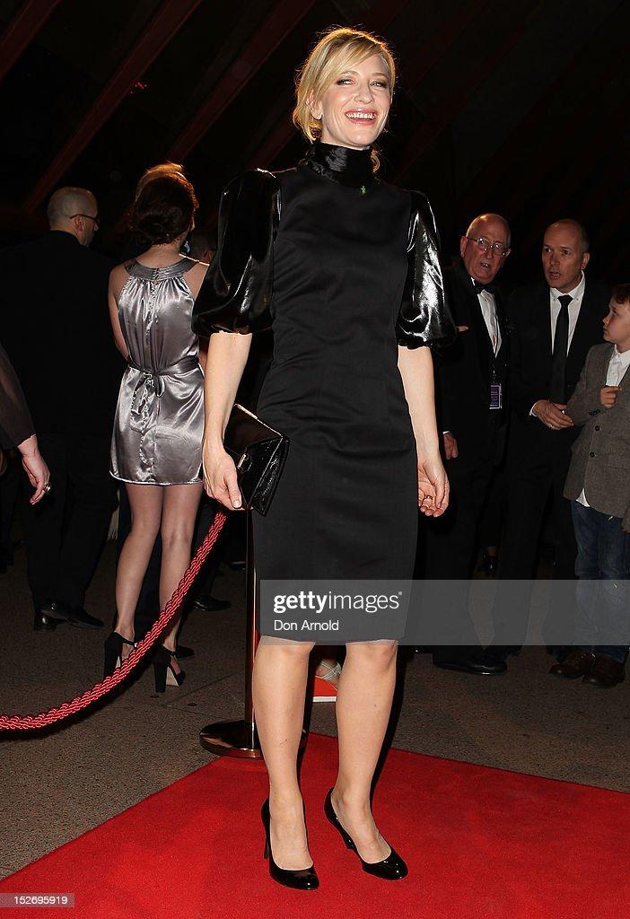 Cate Blanchett arrives at the 2012 Helpmann Awards at the Sydney Opera House on September 24, 2012 in Sydney, Australia.