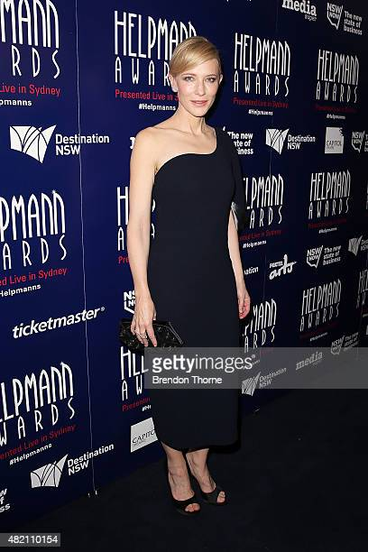 Cate Blanchett arrives at the 2015 Helpmann Awards at the Capitol Theatre on July 27 2015 in Sydney Australia