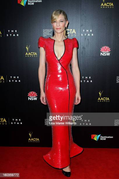 Cate Blanchett arrives at the 2nd Annual AACTA Awards at The Star on January 30 2013 in Sydney Australia